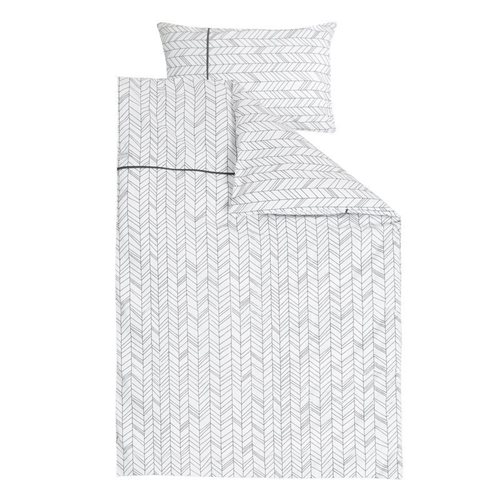 Picture of Cot blanket cover - White Leaves