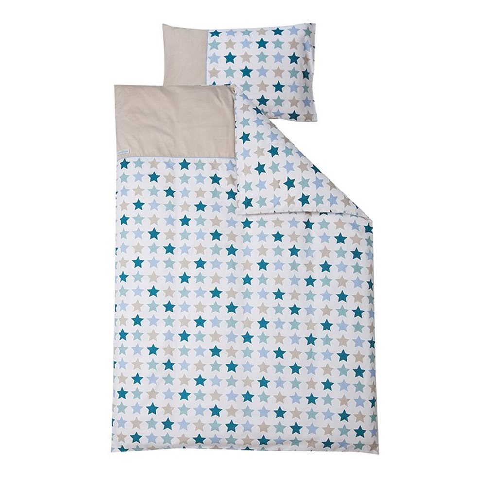 Picture of Cot blanket cover Mixed Stars Mint