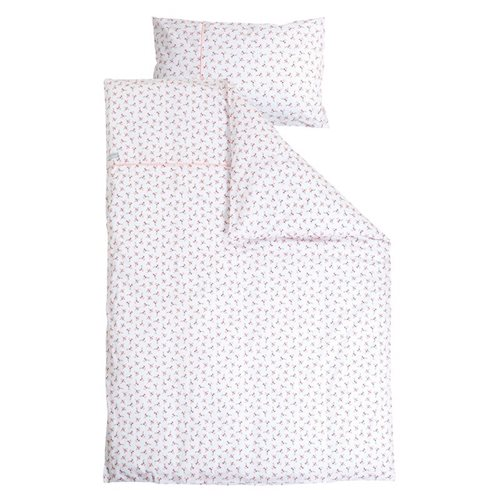 Picture of Cot blanket cover - Peach Poppy