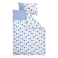 Picture of Cot blanket cover - Mixed Stars Blue