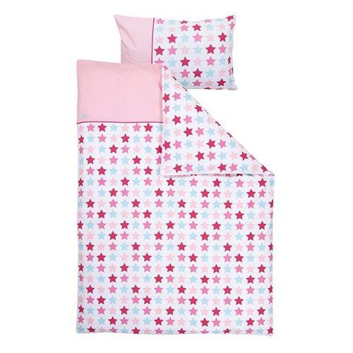 Housse de couette lit bébé Mixed Stars Pink