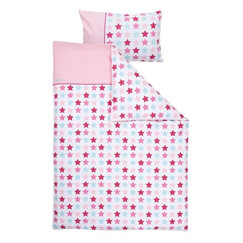 Picture of Cot blanket cover - Mixed Stars Pink