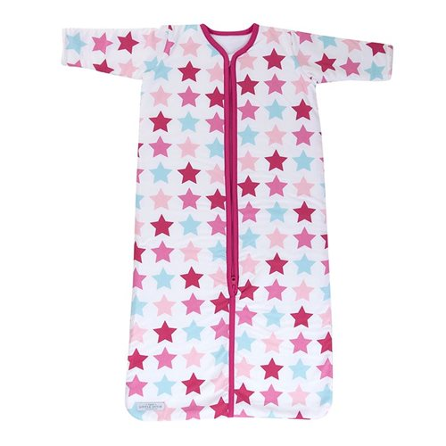 Picture of Winter sleeping bag Mixed Stars Pink