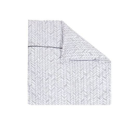 Picture of Bassinet blanket cover - White Leaves