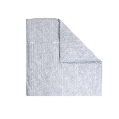 Afbeelding van Dekenovertrek wieg Grey Leaves