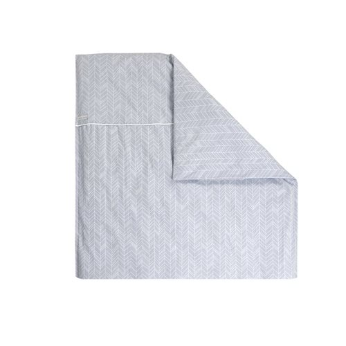 Picture of Bassinet blanket cover Grey Leaves