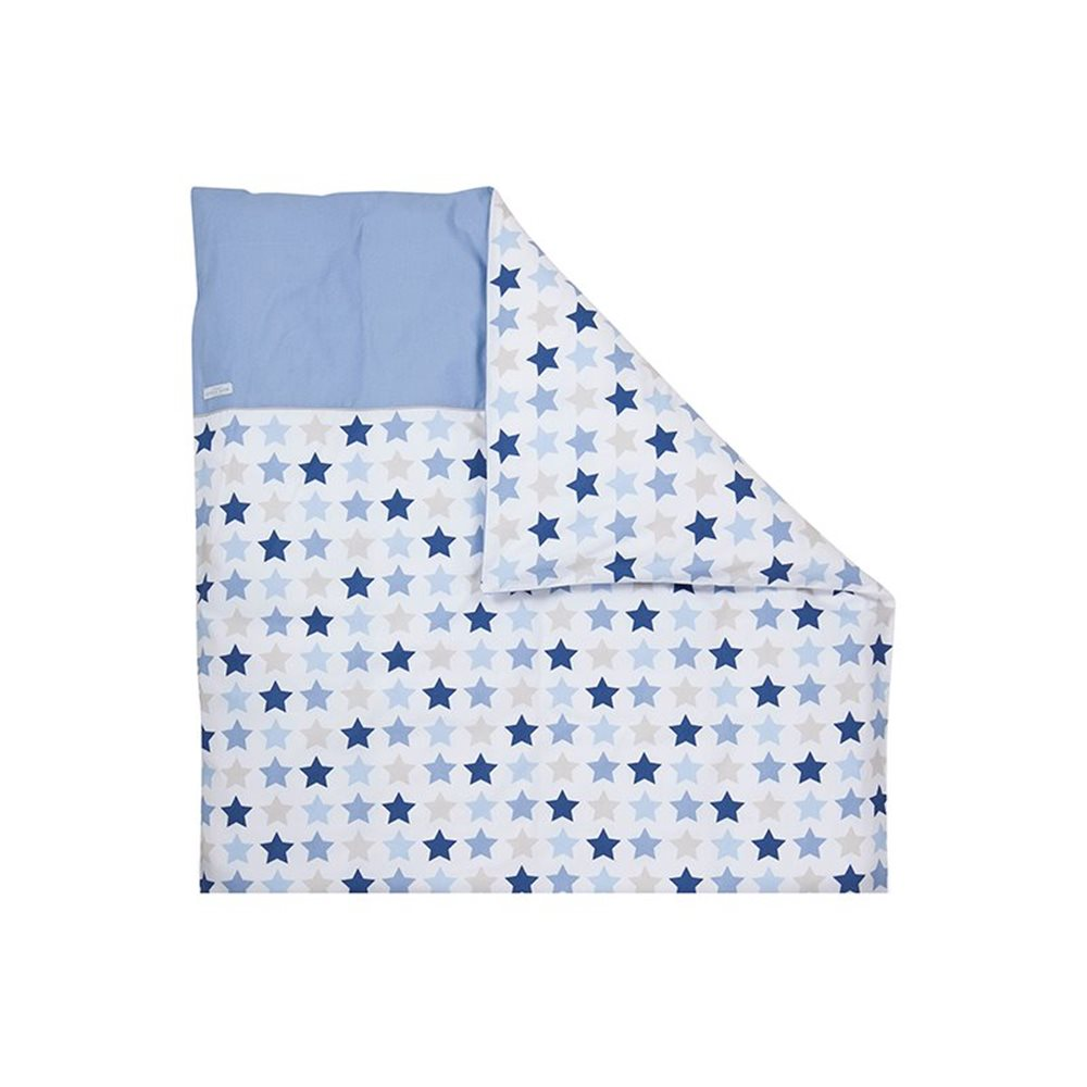 Picture of Bassinet blanket cover - Mixed Stars Blue