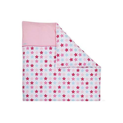Afbeelding van Dekbedovertrek wieg Mixed Stars Pink