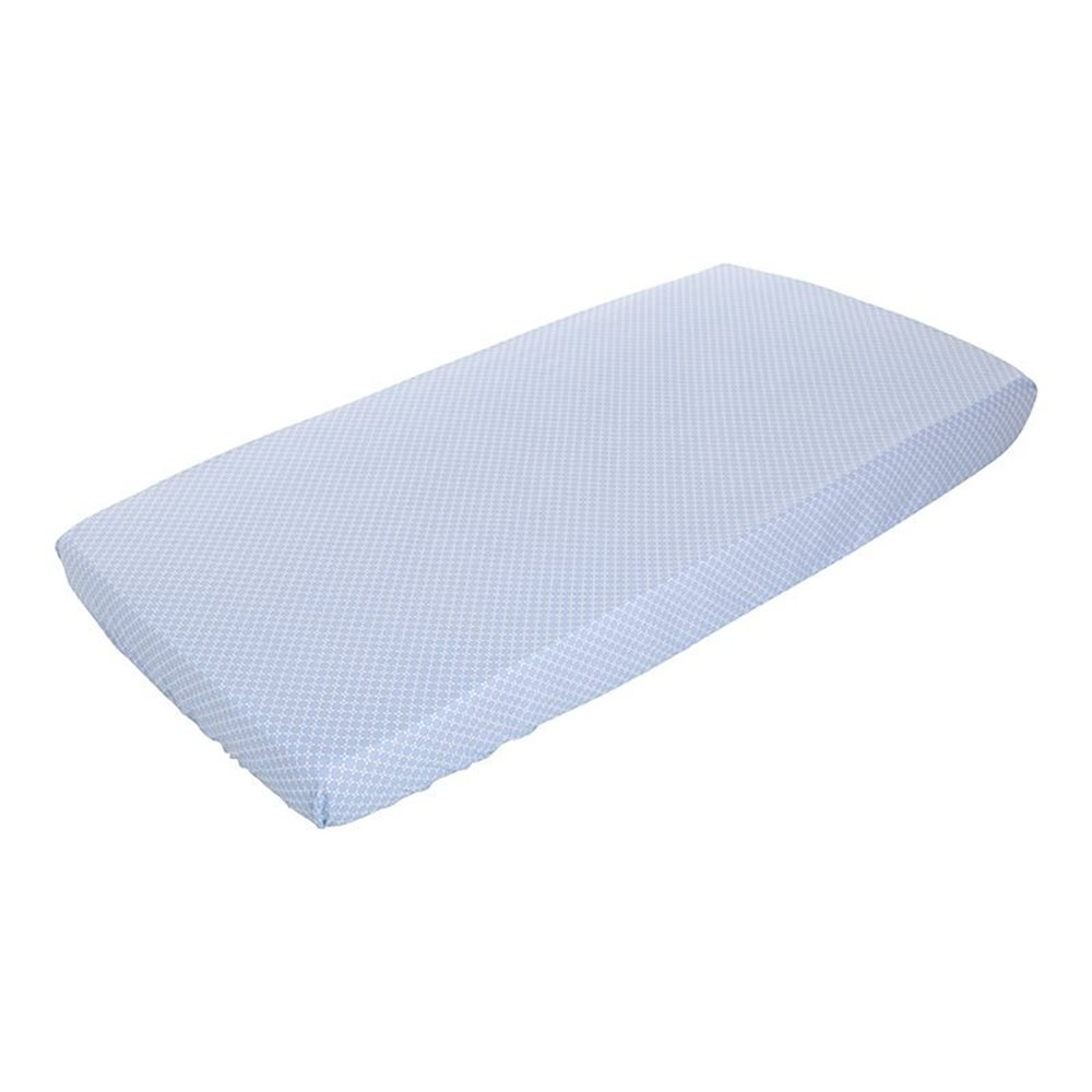 Picture of Fitted cot sheet - Sweet Blue