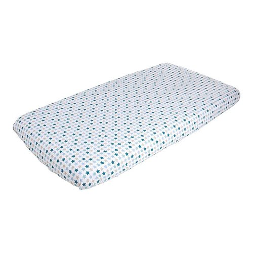 Picture of Fitted cot sheet - Mixed Stars Mint