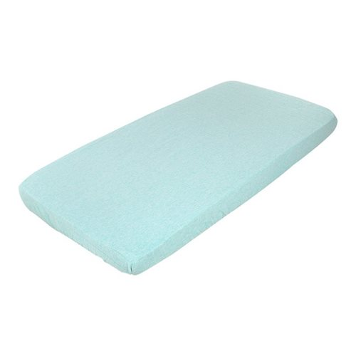 Picture of Fitted cot sheet - Mint Melange