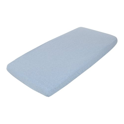 Picture of Fitted cot sheet Blue Melange