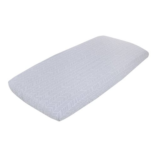 Picture of Fitted cot sheet Grey Leaves