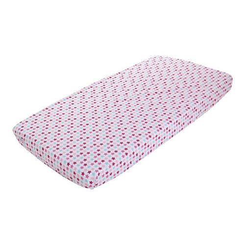 Picture of Fitted cot sheet Mixed Stars Pink
