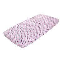Picture of Fitted cot sheet - Mixed Stars Pink