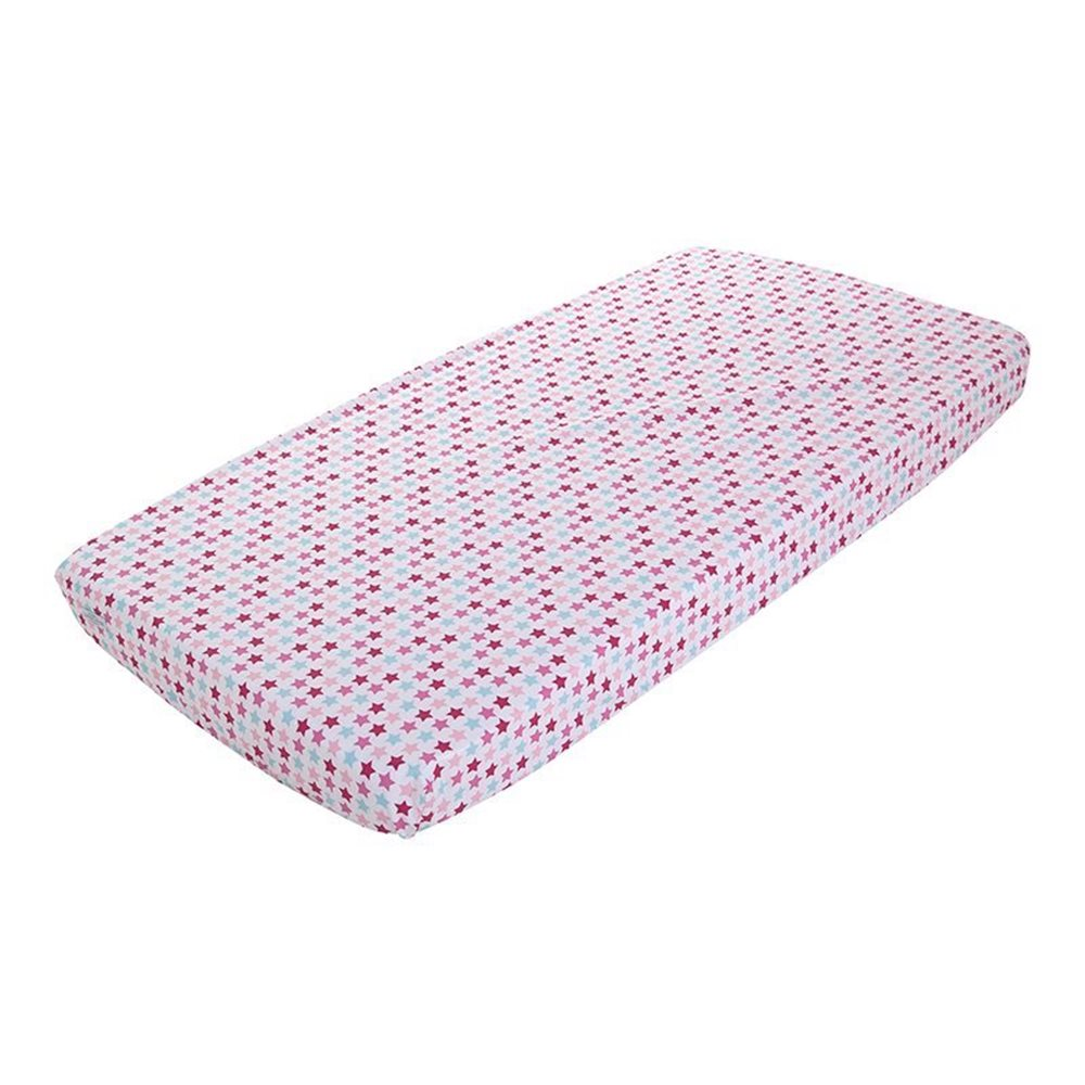 Picture of Fitted bassinet sheet - Mixed Stars Pink