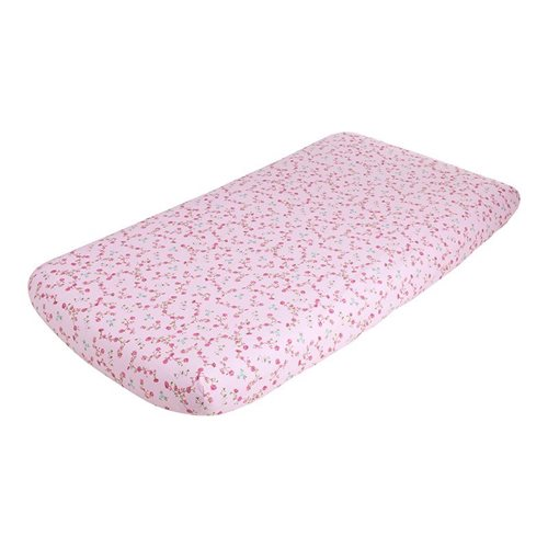 Picture of Single fitted sheet - Pink Blossom