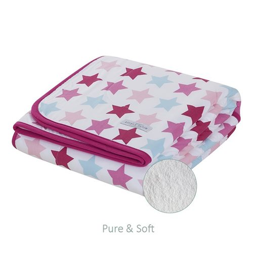 Picture of Cot blanket Mixed Stars Pink