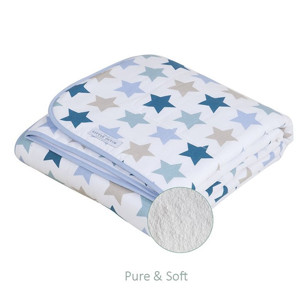 Picture of Bassinet blanket Pure & Soft - Mixed Stars Mint