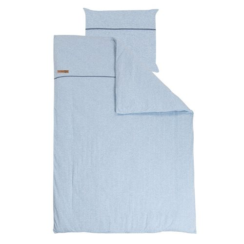 Picture of Single duvet cover DE - Blue Melange
