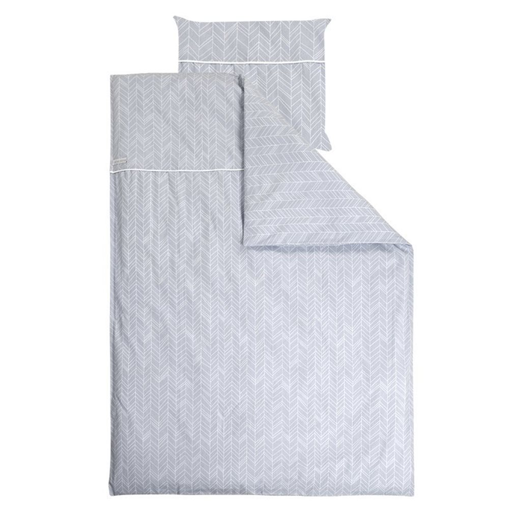 Picture of Single duvet cover Germany Grey Leaves