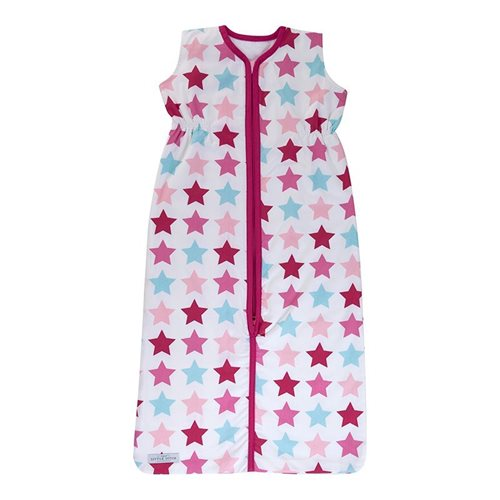 Schlafsack Sommer 70 cm Mixed Stars Pink