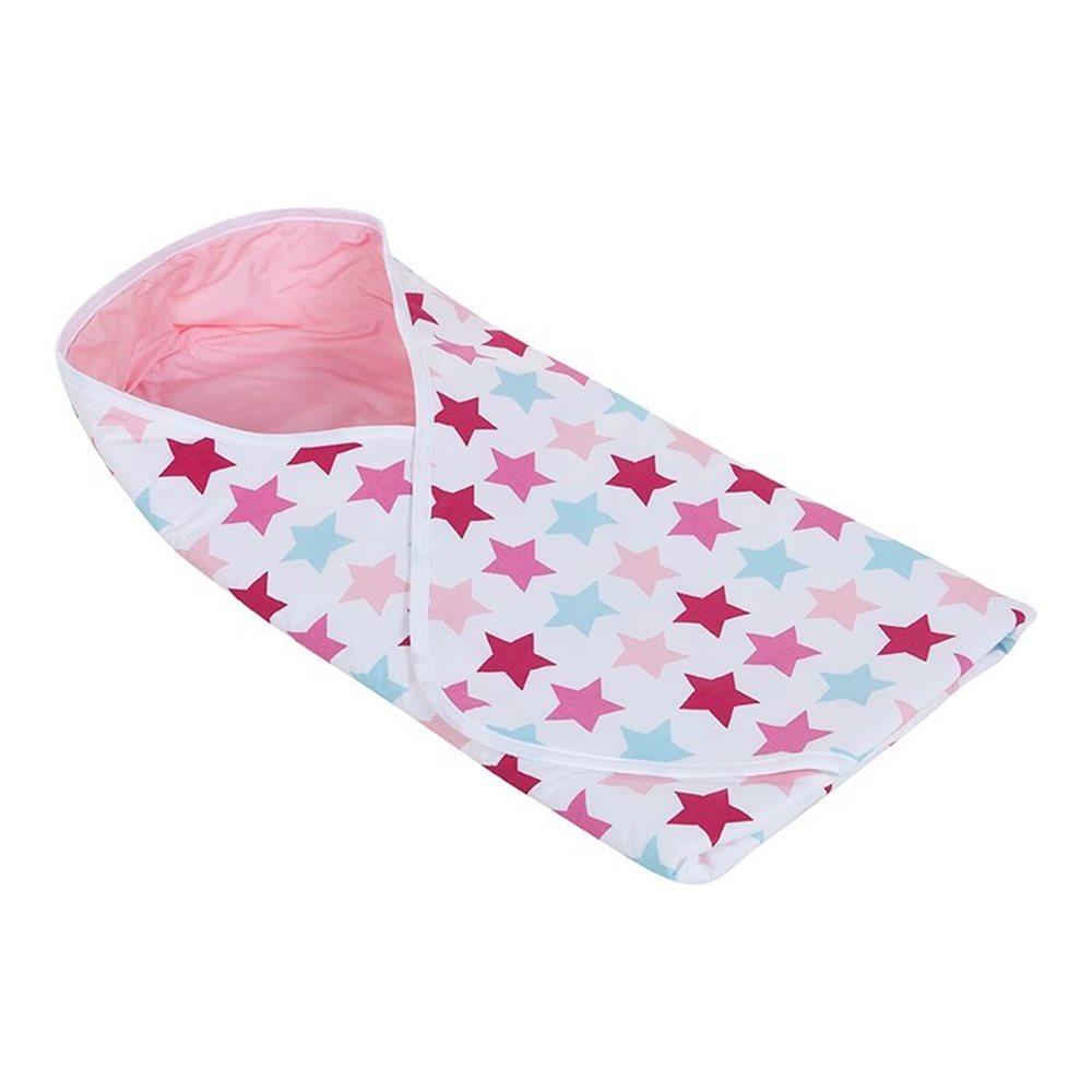 Couverture enveloppante Mixed Stars Pink