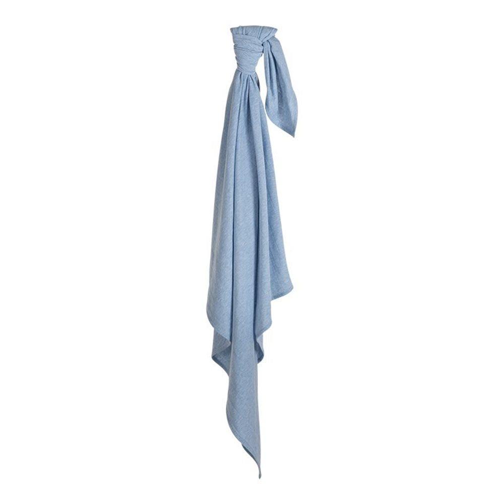 Maxi-lange swaddle 120 x 120 Blue Melange