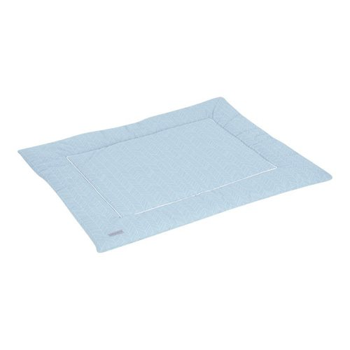 Picture of Playpen mat 80 x 100 - Blue Leaves