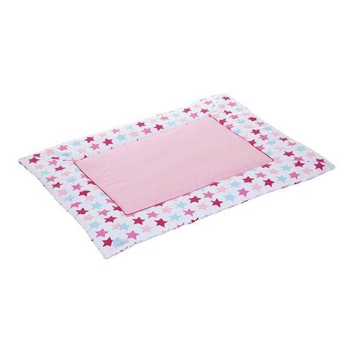 Afbeelding van Boxkleed 80 x 100 Mixed Stars Pink