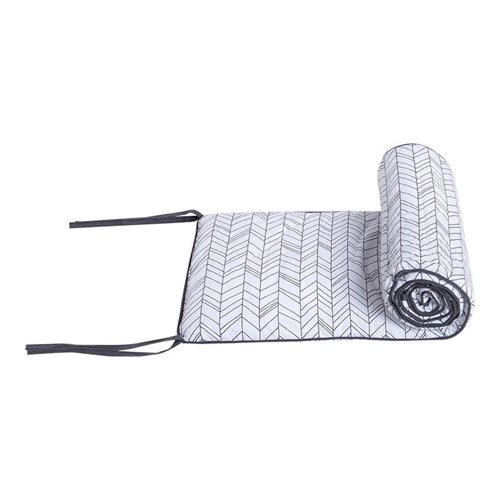 Picture of Cot bumper White Leaves