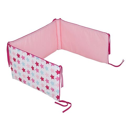 Picture of Cot bumper Mixed Stars Pink