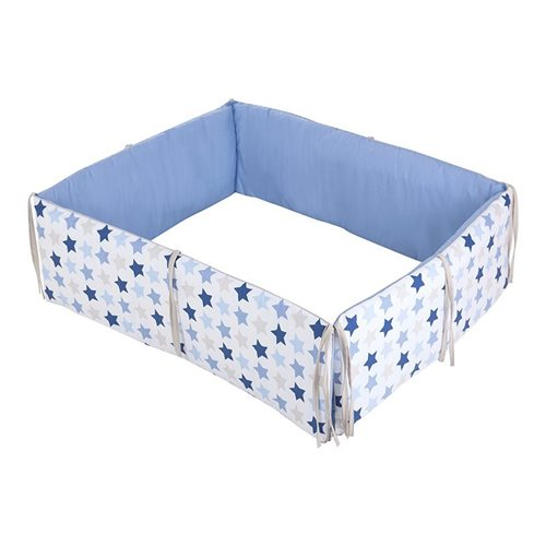 Picture of Playpen bumper - Mixed Stars Blue