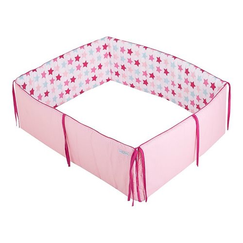 Picture of Playpen bumper - Mixed Stars Pink