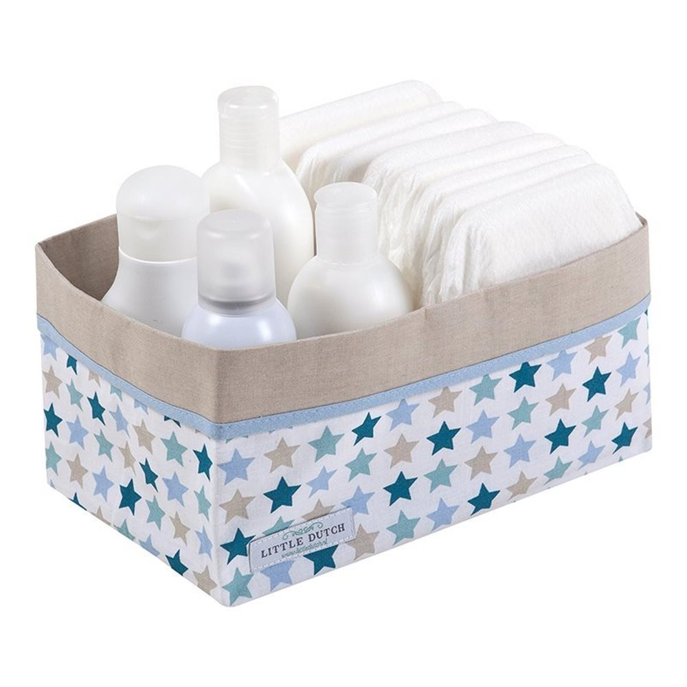 Picture of Storage basket, large - Mixed Stars Mint