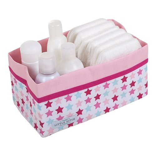 Picture of Storage basket, large Mixed Stars Pink