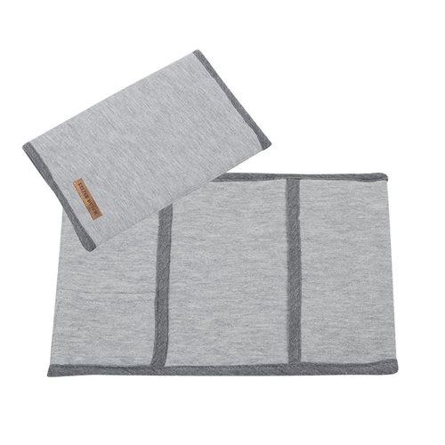 Protège-carnet, petit modèle Grey Melange