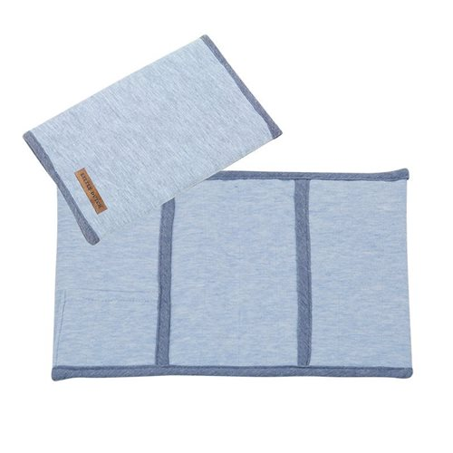 Afbeelding van Hoes voor boekje, klein Blue Melange