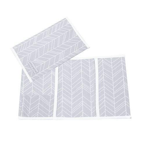 Afbeelding van Hoes voor boekje, klein Grey Leaves