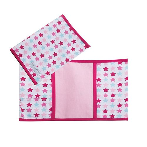 Picture of Check-up booklet cover, small Mixed Stars Pink