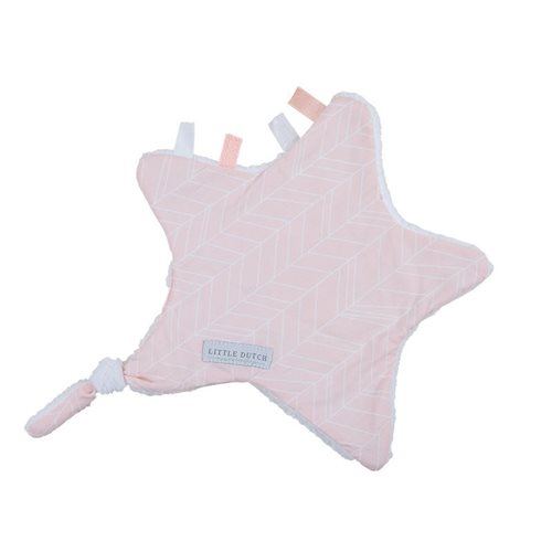Picture of Cuddle cloth, star - Peach Leaves