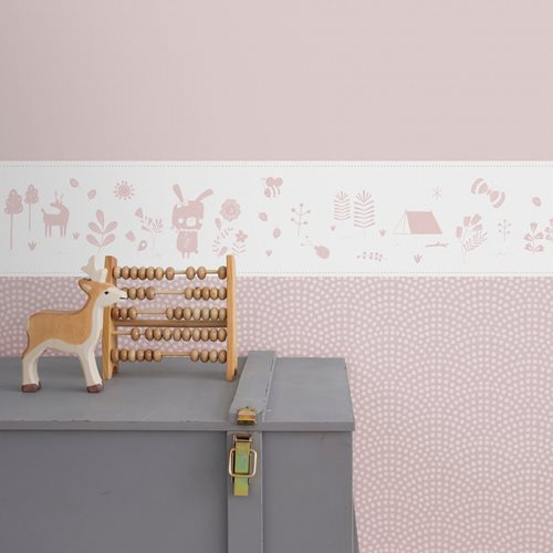 Picture of Self-adhesive border Adventure Pink