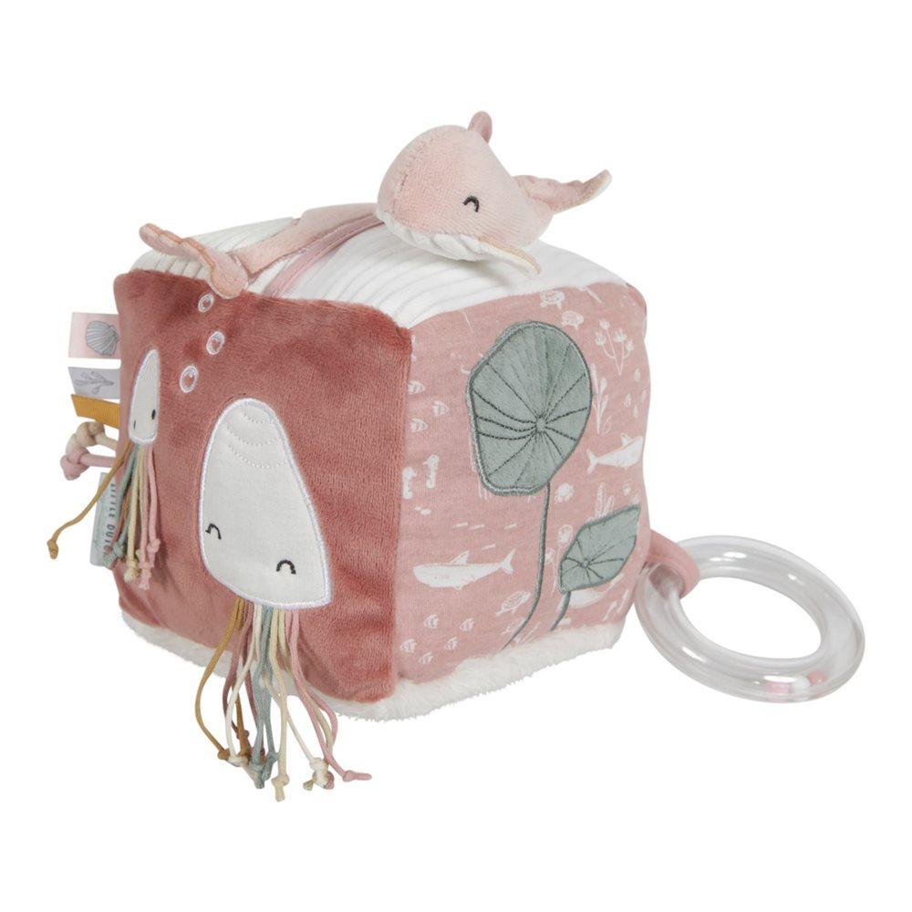 Cube d'activités doux Ocean Pink