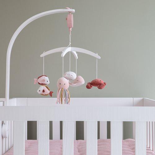 Afbeelding van Houten muziekmobiel wit Ocean Pink