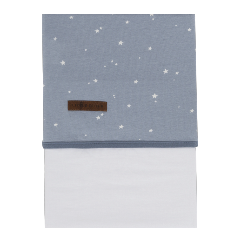 Picture of Cot sheet Little Stars Blue