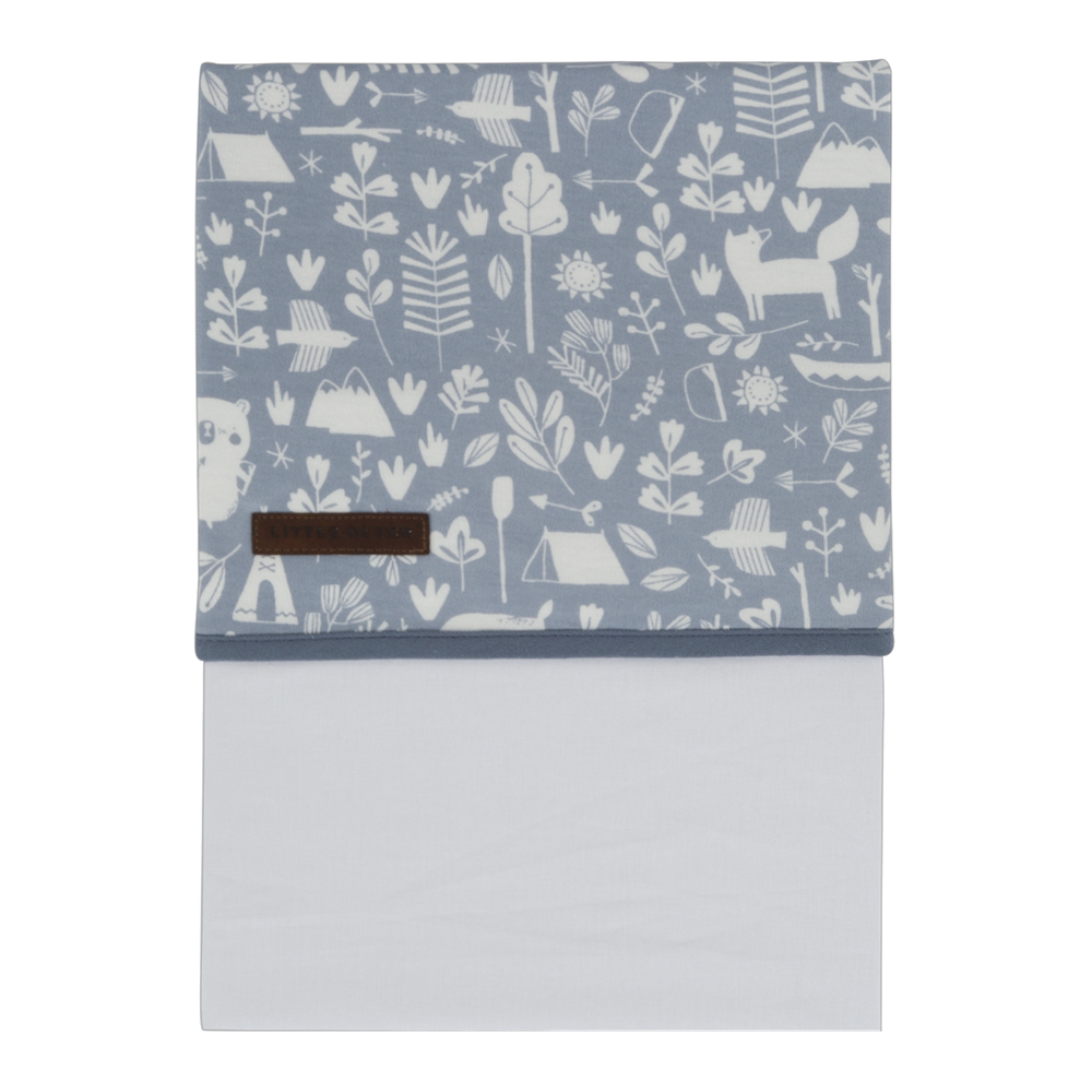 Picture of Cot sheet Adventure Blue