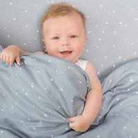 Picture of Cot blanket cover Little Stars Blue