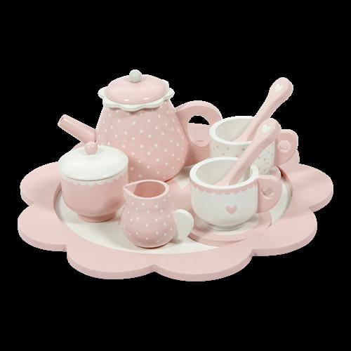 Service à thé rose