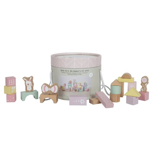 Picture of Building blocks in bucket pink