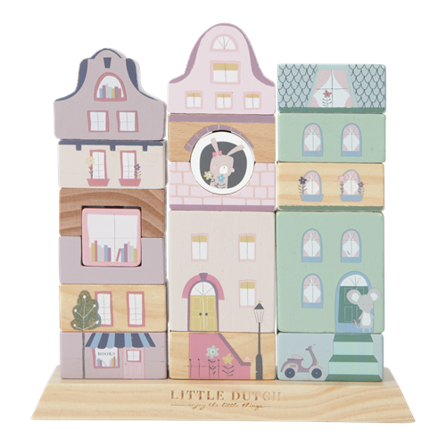 Picture of Wooden Building blocks - Adventure pink